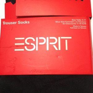 Esprit Accessories - Esprit trouser socks black set 2 size 9-11 NWT